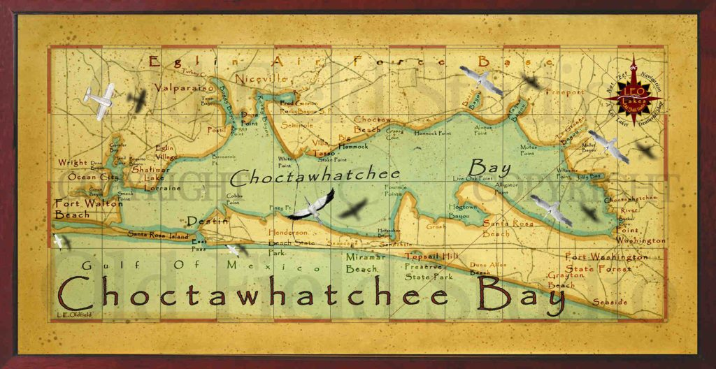 Charter Fishing Choctawhatchee Bay Map
